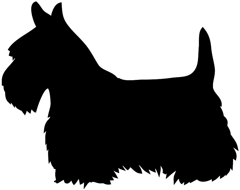 Scottish terrier silhouette