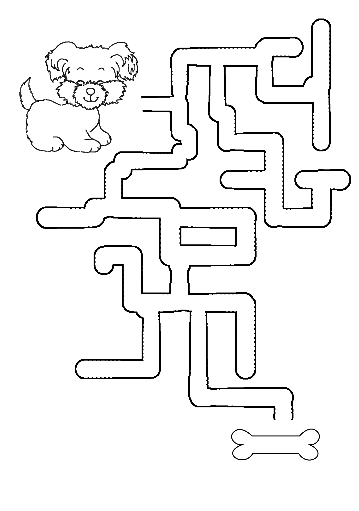 maze to bring dog to bone