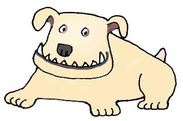 drawing of bull dog