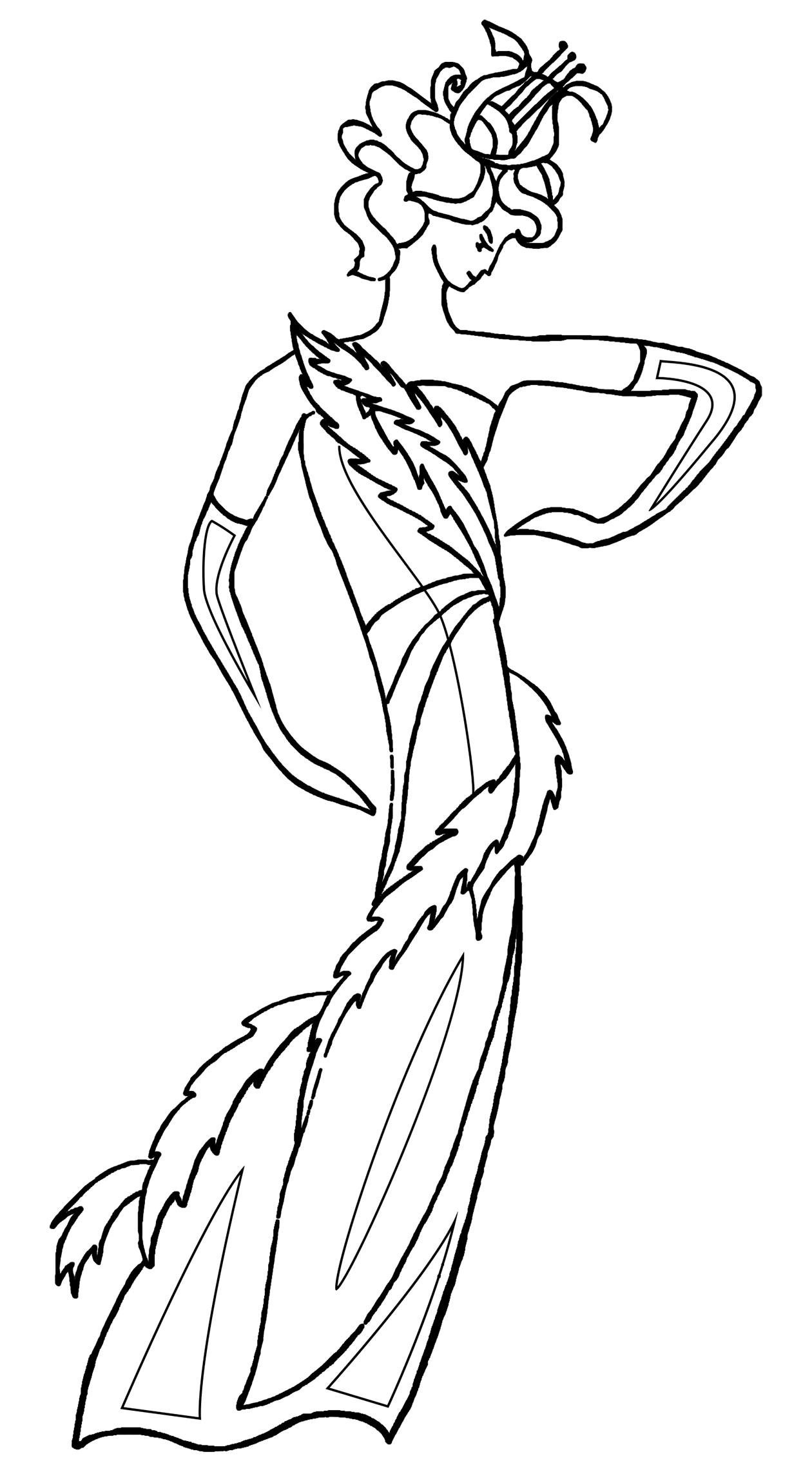 drawing of dancer 20th century