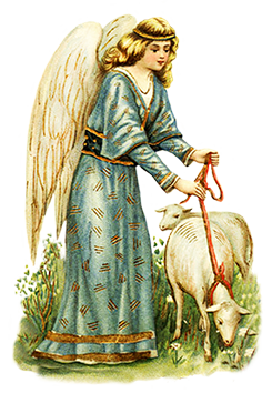 Easter angel with lamb