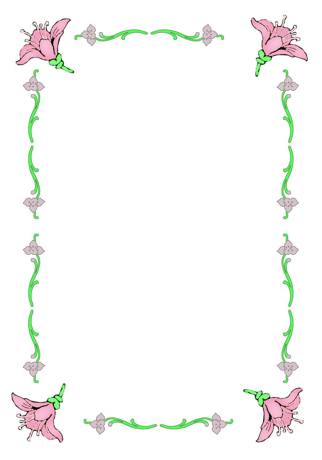 image relating to Free Printable Borders and Frames named Absolutely free Printable Borders for Easter