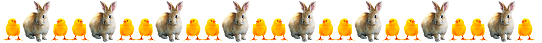 Easter bunny and Easter chicks border