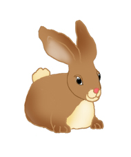 Very cute easter bunny