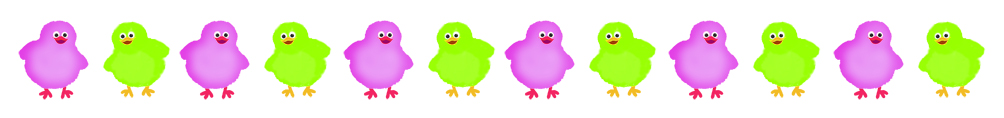 Easter chickens lila green