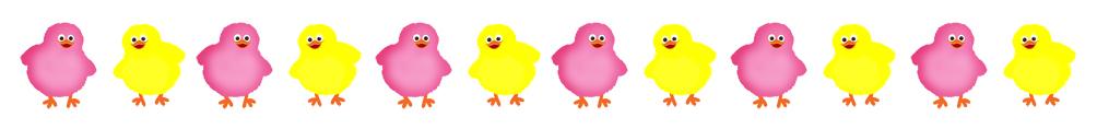 Easter chicks border