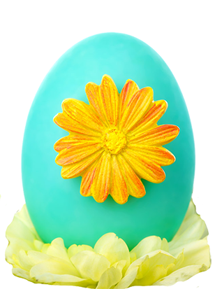 Easter egg with flower
