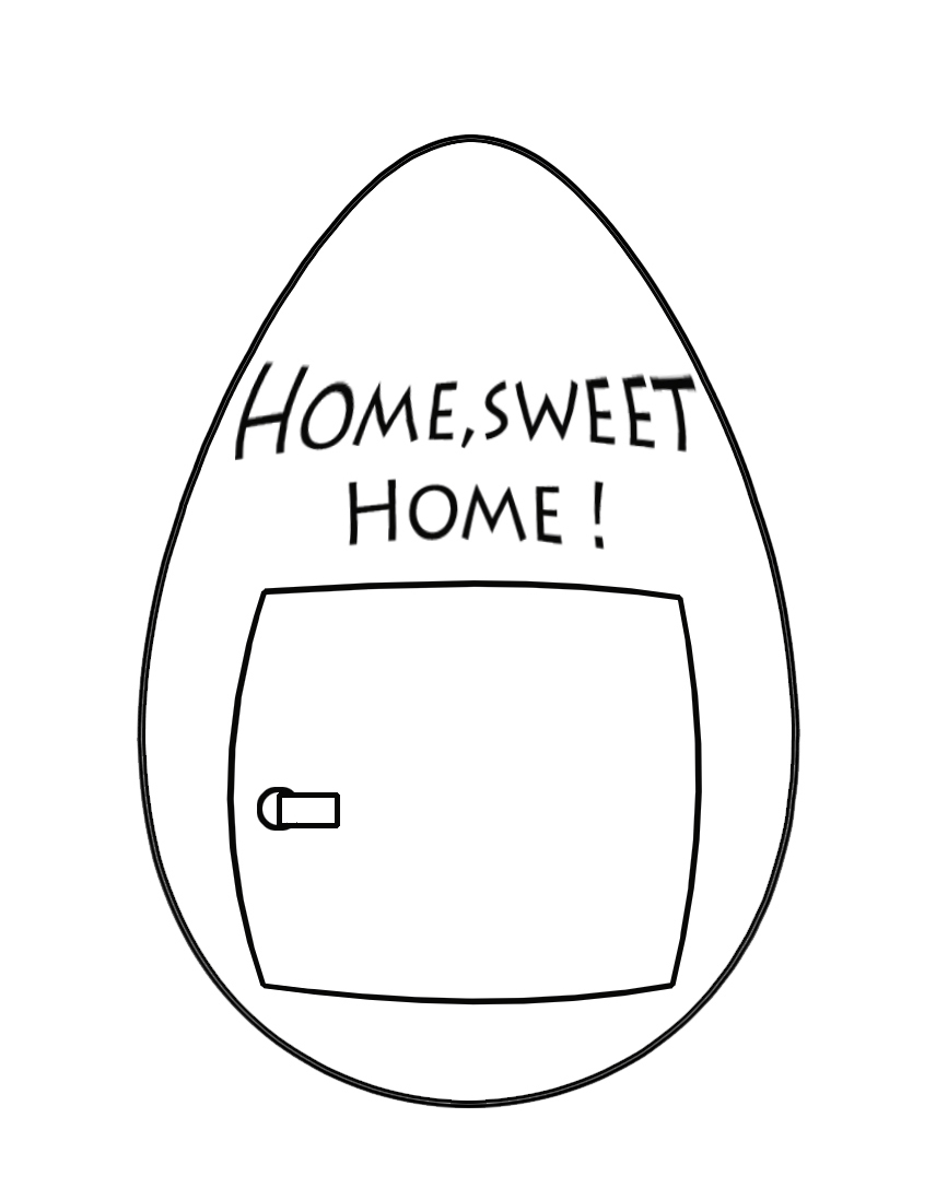 home sweet home Easter egg