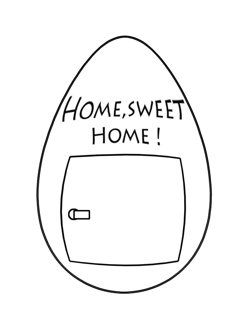home sweet home Easter egg