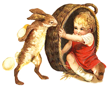 Easter hare and child