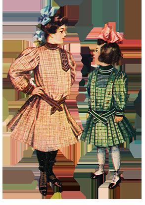 Edwardian fashion for girls 1905 New York