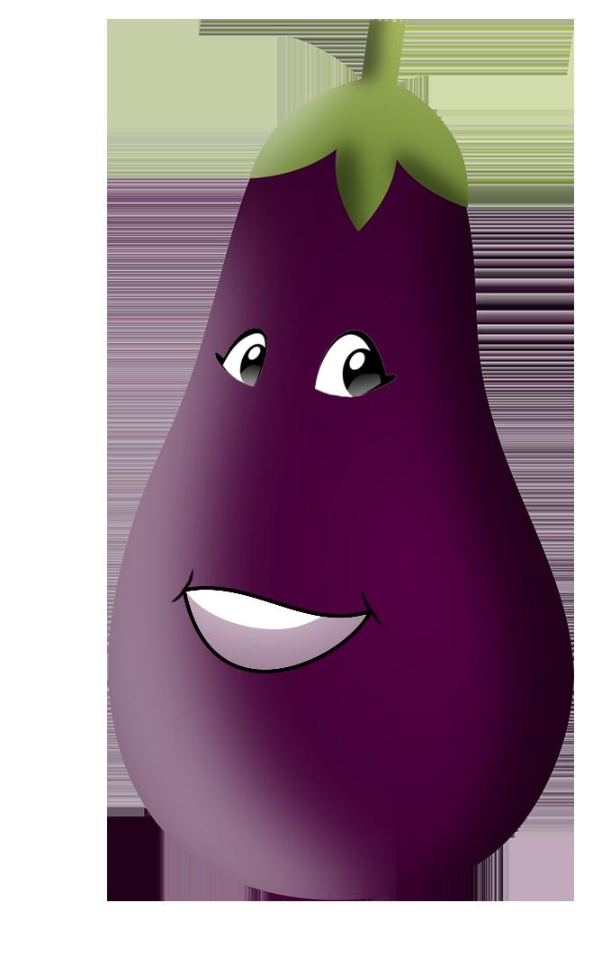 eggplant cartoon drawing