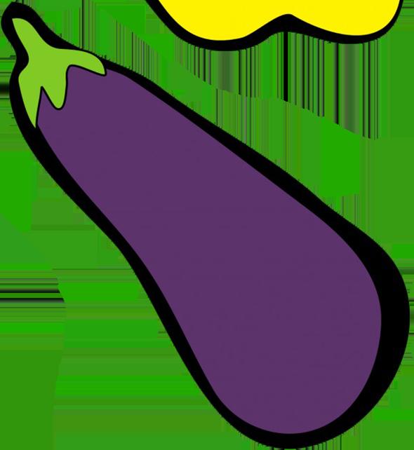 eggplant drawing