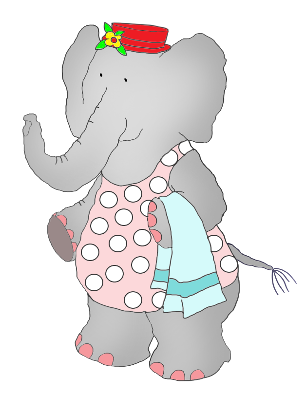 elephant in swim suit