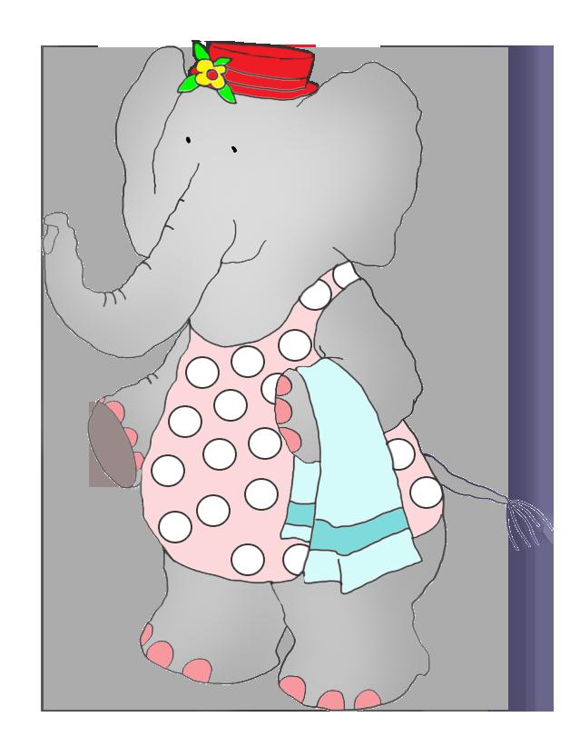 elephant in swim suit