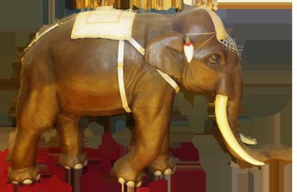 elephant made of tree