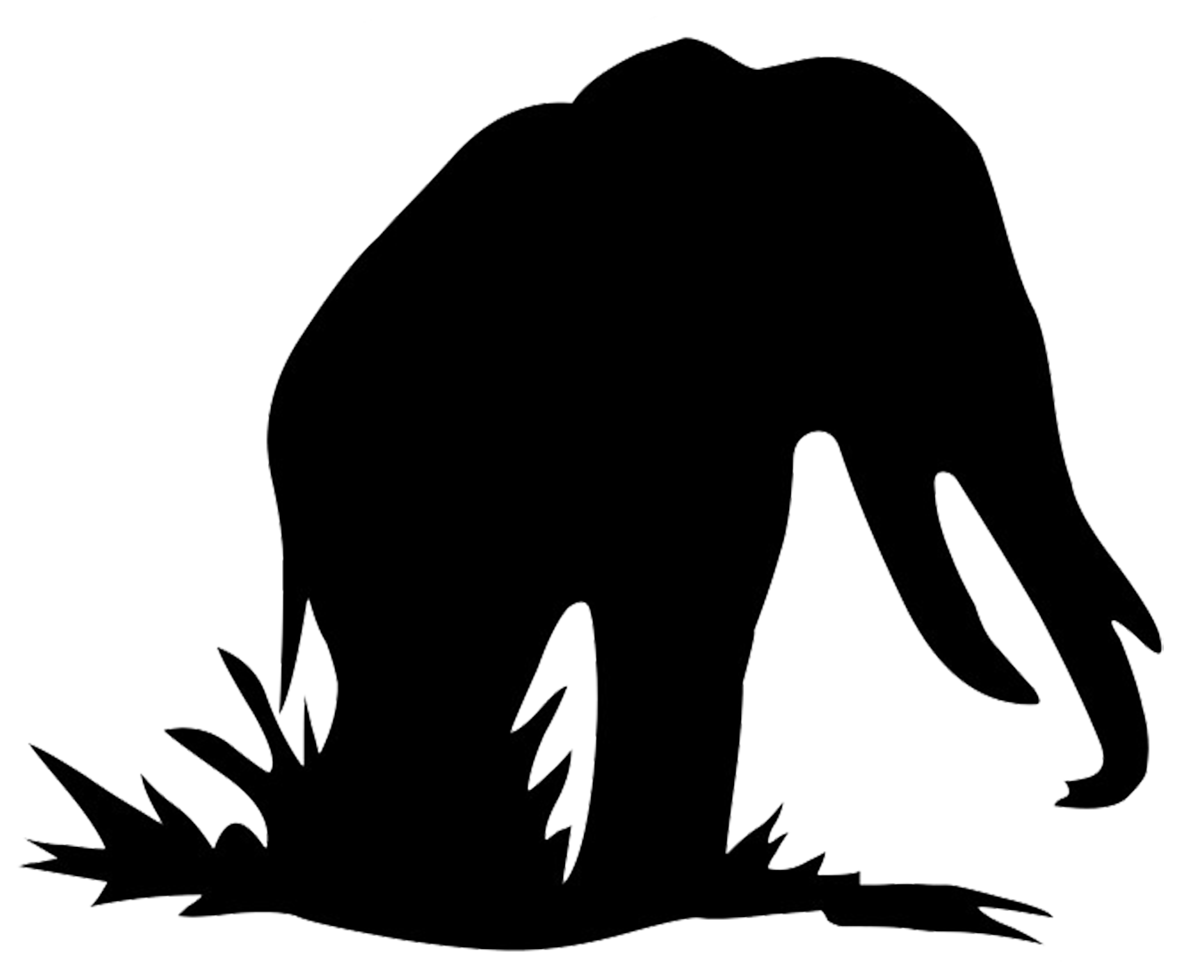 Elephant silhouette clipart