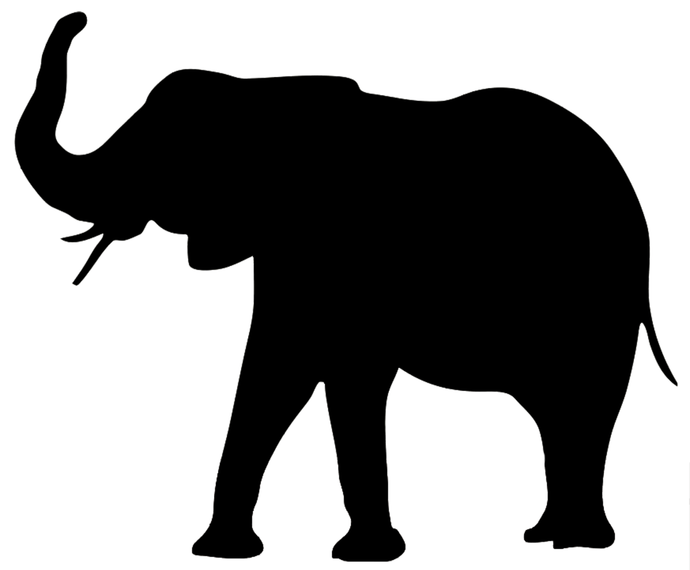 Brown silhouette of elephant JPEG Elephant black white silhouette PNG
