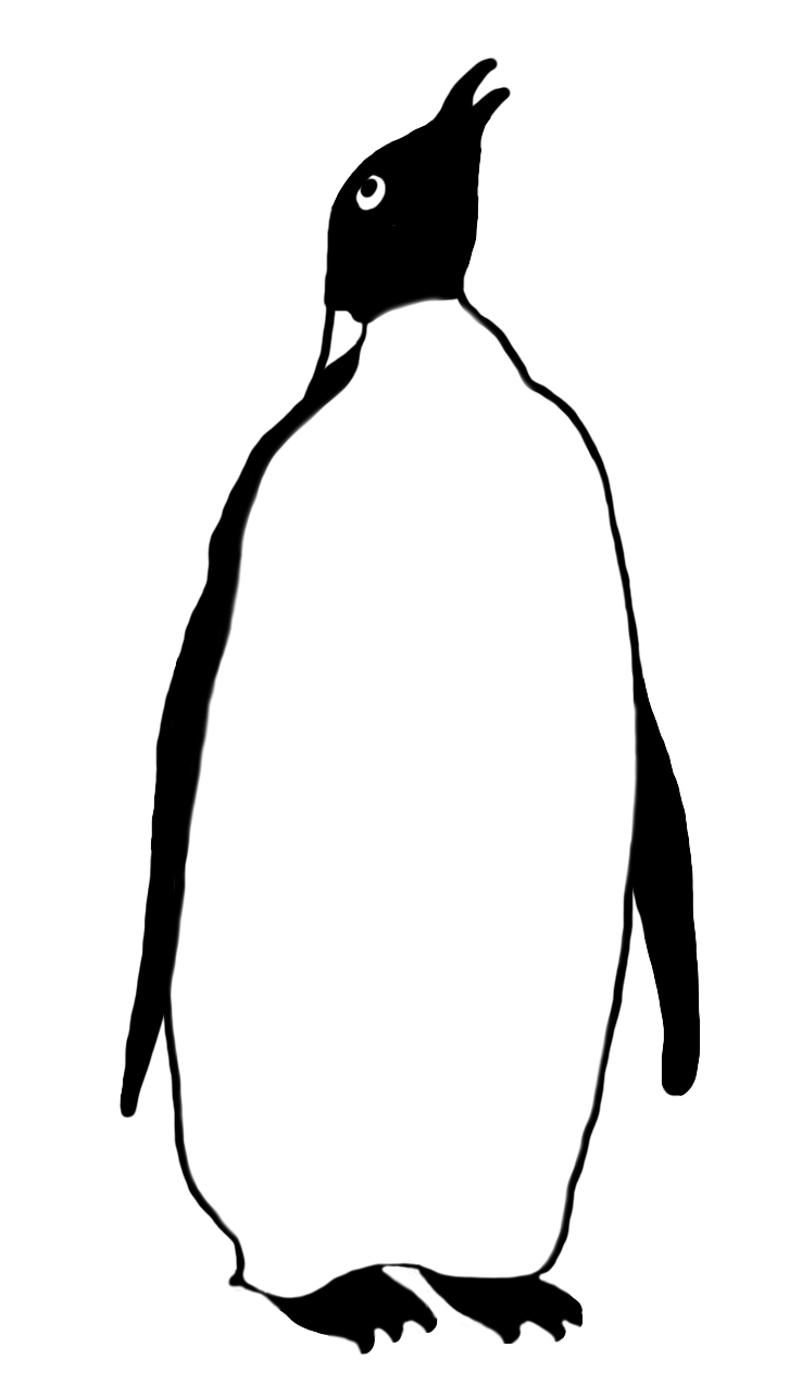 emperor penguin drawing