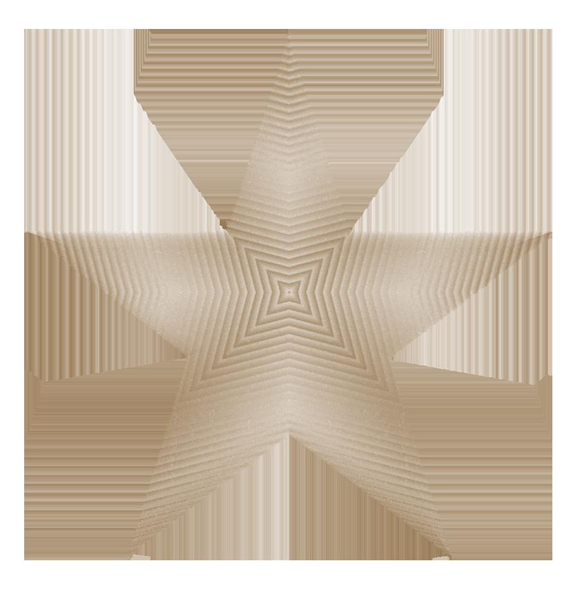 sepia étoile shape