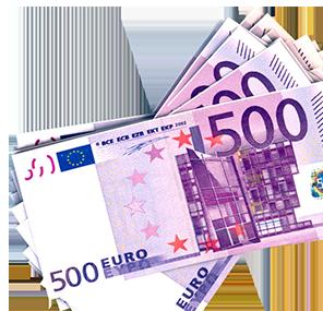 Euro banknotes clip art