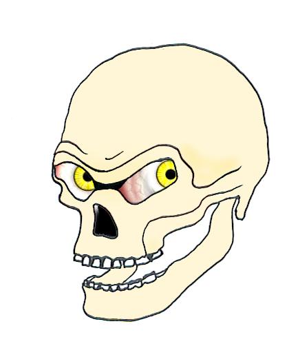 evil skulls with eyes