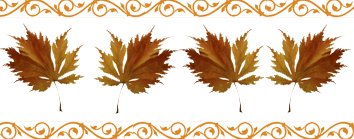 autumn clipart border brown leaves