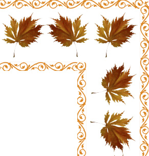 fall leaves clip art corner of border
