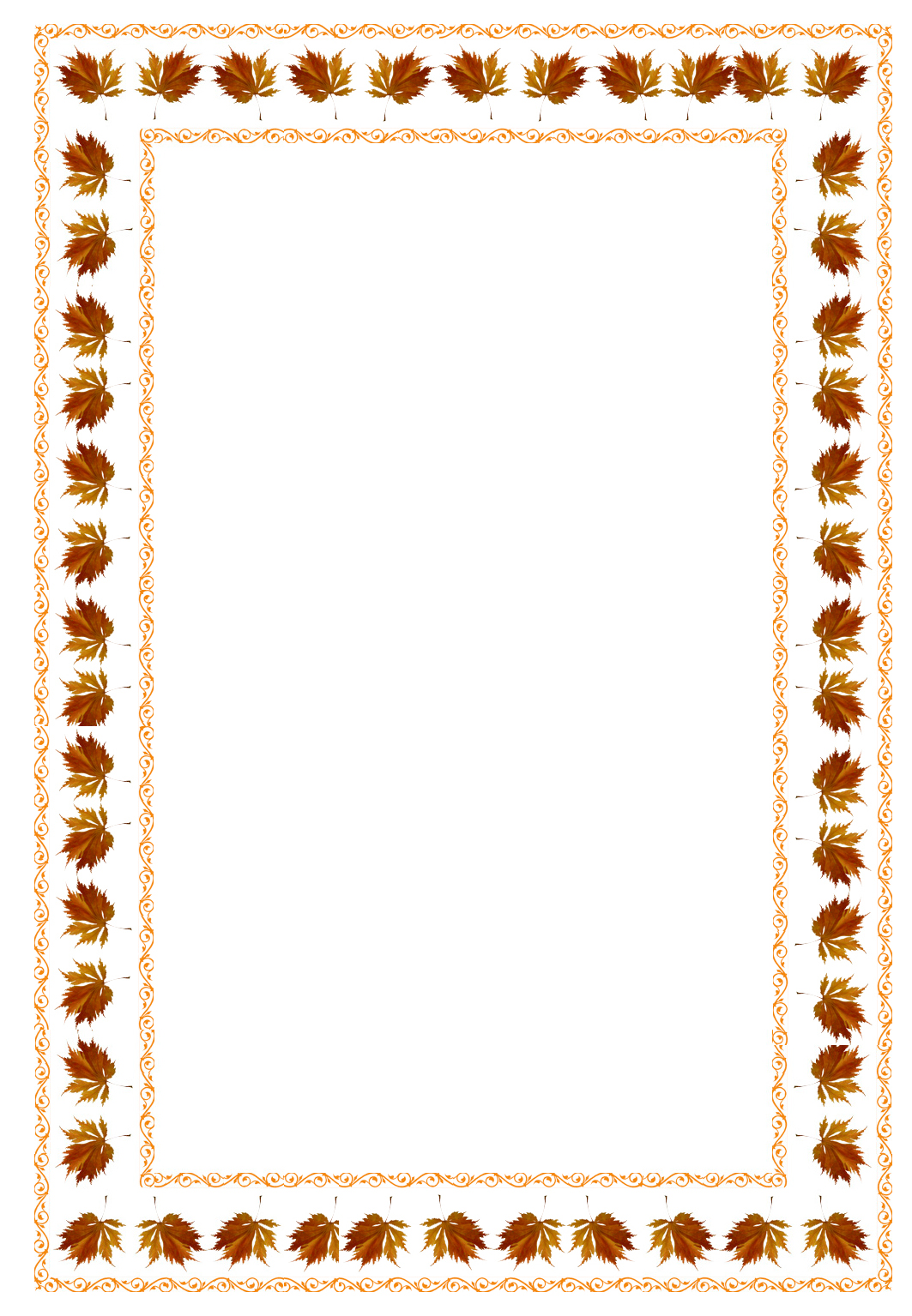frame with fall leaves