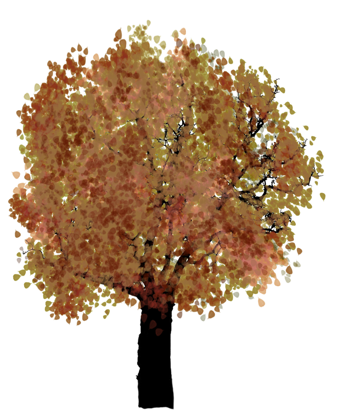 fall tree clipart red leaves