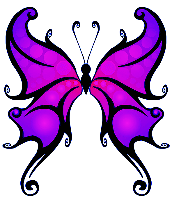purple fantasy butterfly