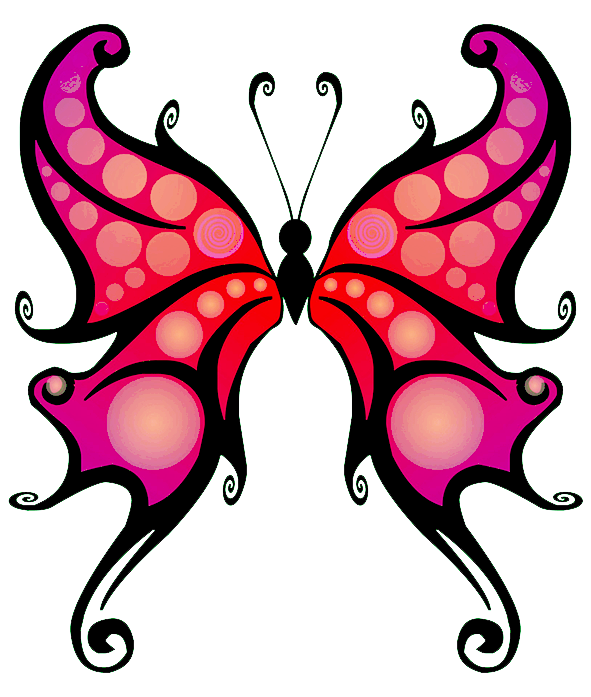 Fantasy butterfly clipart