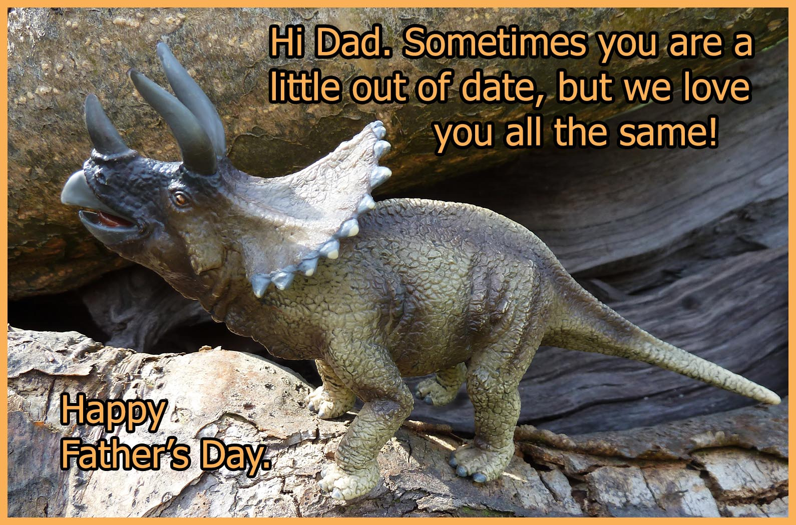 dinosaur greeting card for father's day