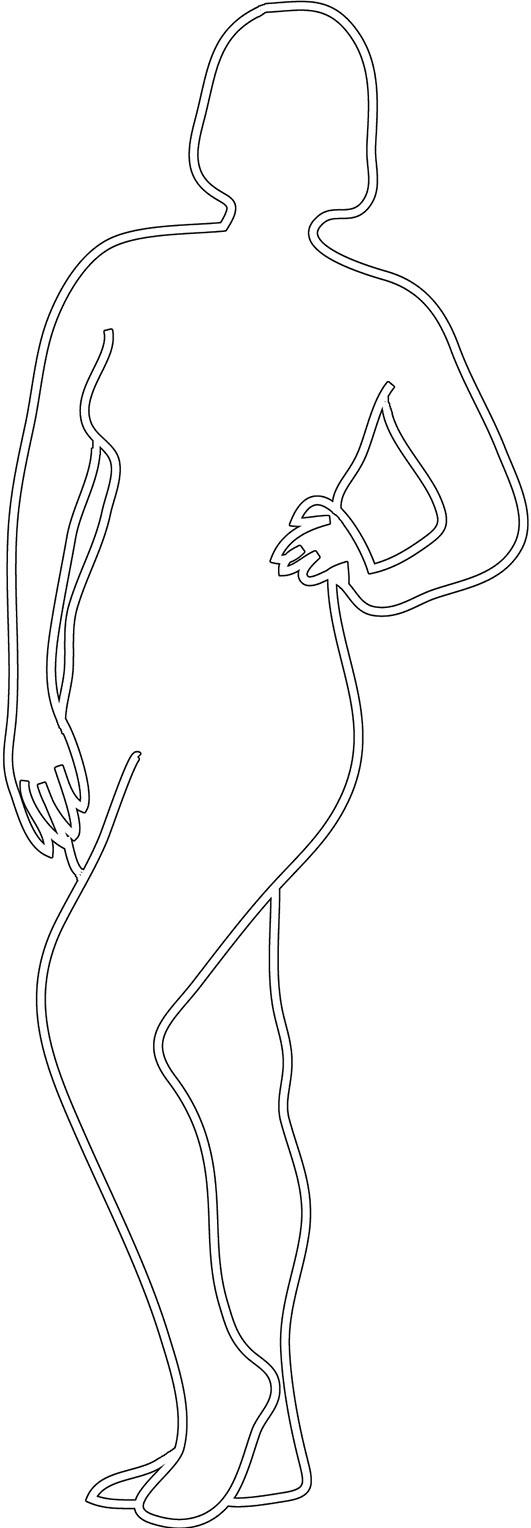 Chubby posing woman