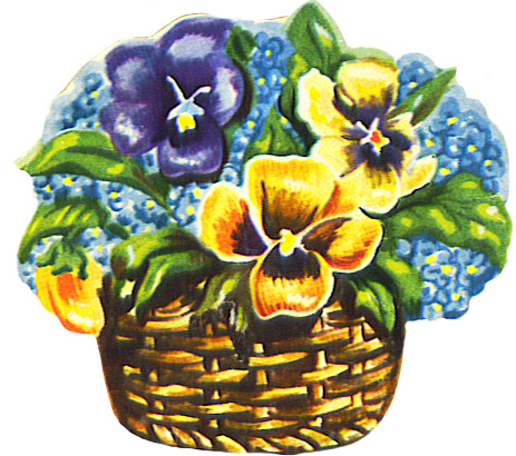 flower basket scrap image