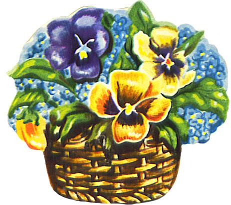 flower basket scrap image