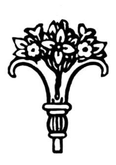flower bouquet ornament