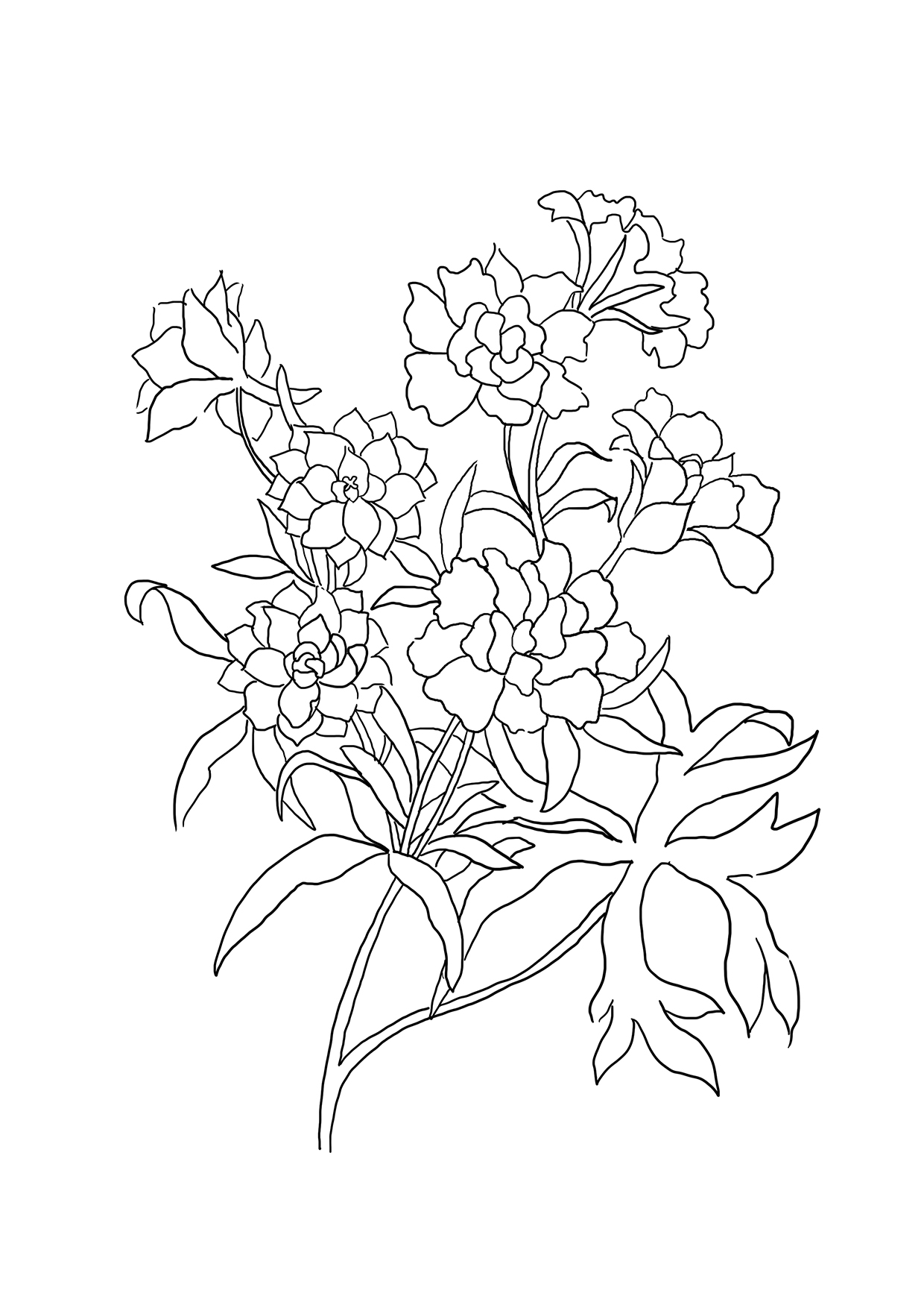 flower coloring pages to print