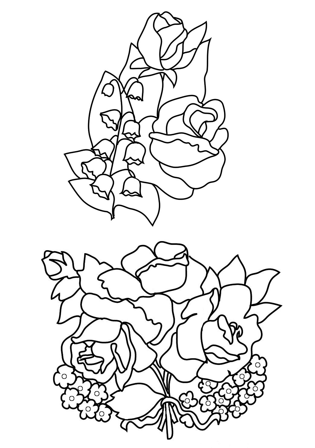 lily of the valley coloring page - flower coloring pages