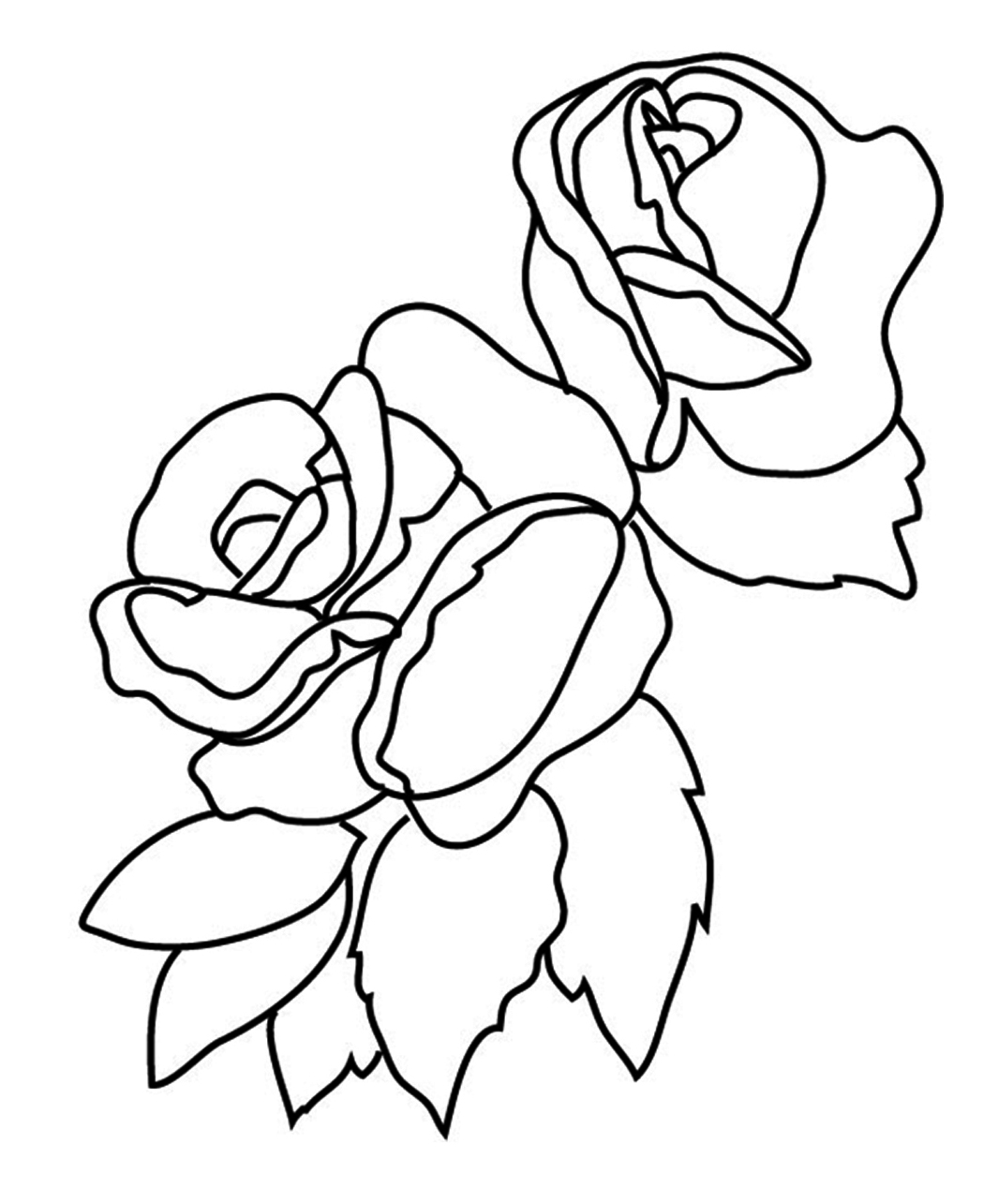 Coloring Pages Of Roses Flower Coloring Pages