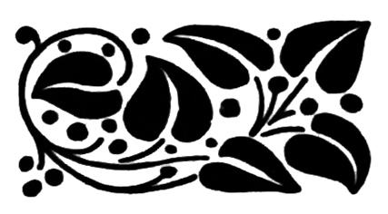 flower design element for frame