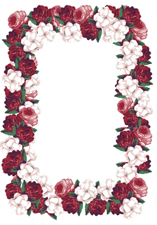 Victorian frame with roses