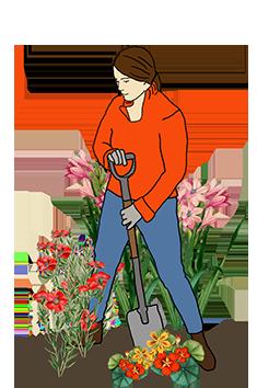 flower gardener clipart