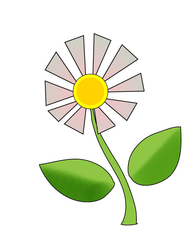 flower graphics daisy with leaves