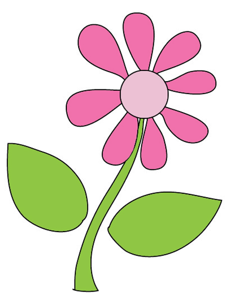 drawing of purple flower