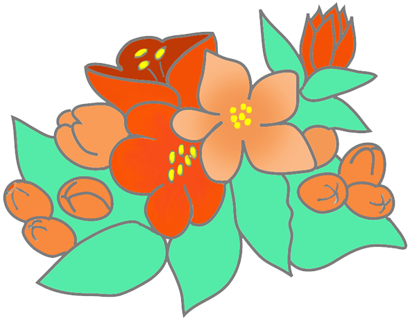 flower leaf clipart - photo #37