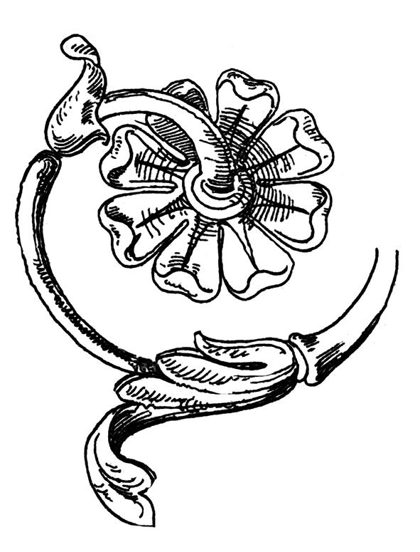 element of Victorian flower decor