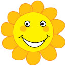 flower smiley face clip art 2