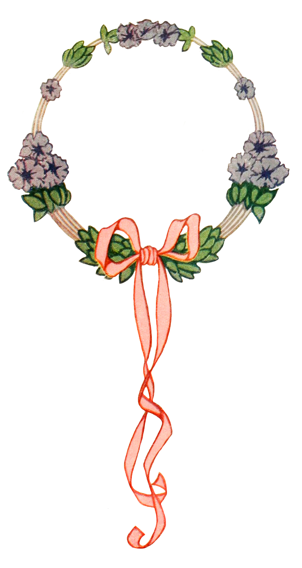 art nouveau flower wreath