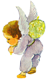 flying angel with rucksack